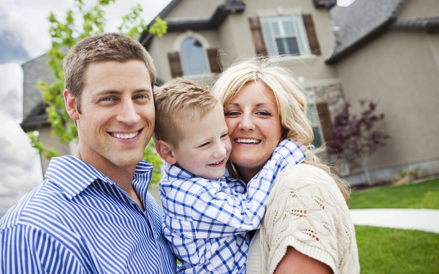 family uses a local mortgage lender for home purchase